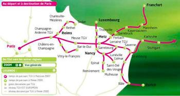 Rutas trenes París-Alemania