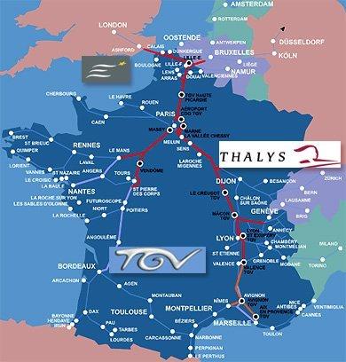 Recorridos TGV